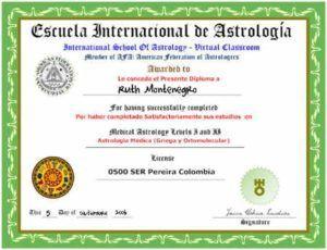 images tarot Ruth Montenegro diplomas Diploma curso astrologia 300x230 - Formación de Ruth Montenegro