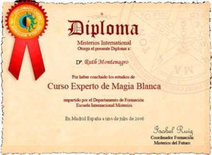 images tarot Ruth Montenegro diplomas diploma magia blanca 300x219 - Formación de Ruth Montenegro