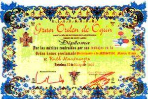 images tarot Ruth Montenegro diplomas diploma orden 300x202 - Formación de Ruth Montenegro