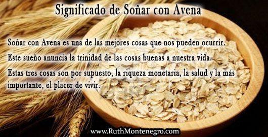 images interpretacion suenos Diccionario Letra a Significado Sonar Avena Ruth Montenegro - Soñar con Avena