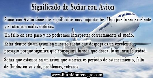 images interpretacion suenos Diccionario Letra a Significado Sonar Avion Ruth Montenegro - Soñar con Avión