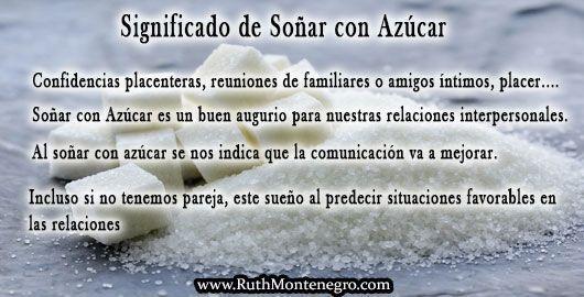 images interpretacion suenos Diccionario Letra a Significado Sonar Azucar Ruth Montenegro - Soñar con Azúcar