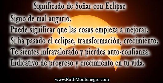 Significado Sonar Eclipse Ruth Montenegro
