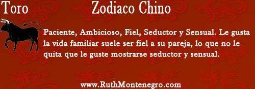 horoscopo chino toro Ruth Montenegro - Calendario Chino y Año para cada Signo